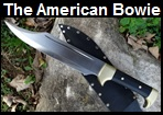 Handmade American Bowie Knife Picture - Link to more pictures, prices,and detailed descriptions.