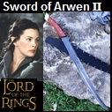 Handmade Sword of Arwen II.  Influenced by Lord of the Rings movie. Picture - Link to more pictures, prices,and detailed descriptions.
