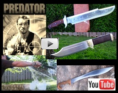 Billy's Predatore Knife Influenced by the Movie Predator, Historical Falcata, & Crocodial Hunter Influenced by Crocodile Dundee Video 