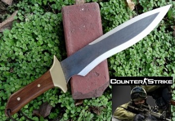 Counter Strike Knife.  Influenced from the Game.  Picture to link to more pictures.
