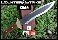 Counter Strike Knife Youtube video picture.  Influenced from the Game.
