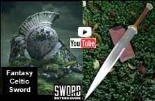 Fantasy Celtic Sword video link. Watch up close footage of the SBG exclusive limited edition sword.