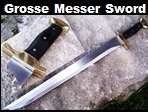 Handmade Grosse Messer Hunting Sword. Picture - Link to more pictures, prices,and detailed descriptions.