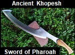 Handmade Ancient Egyptian Khopesh Sword of Pharaoh Picture - Link to more pictures, prices,and detailed descriptions
