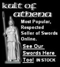 Kult of Athena Picture Link - See Scorpion Swords & Knives Products on Their Site Too.