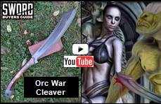 Orc War Cleaver YouTube video link picture