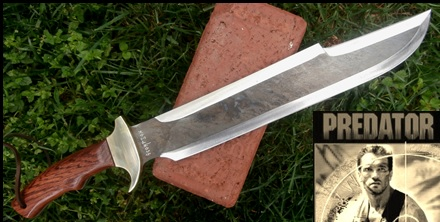 Billy's Predator Knife Version II Picture.  Influenced by the movie Predator.