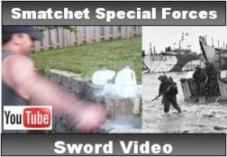 Smatchet Special Forces Sword Video.  See us demonstrate the smatchet's slicing power, history of the sword and World War II.