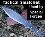 Handmade Tactical Smatchet Used by British & American Special Forces in World War II.  Picture - Link to more pictures, prices,and 