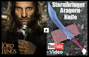 Stormbringer Aragorn Knife Youtube Video Link Picture