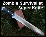 Handmade Zombie Survivalist Super Knife Picture - Link to more pictures, prices,and detailed descriptions.